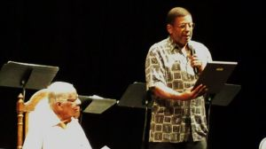 Ted Shine and Eugene Lee, Artistic Director for Black and Latino Playwrights Conference.