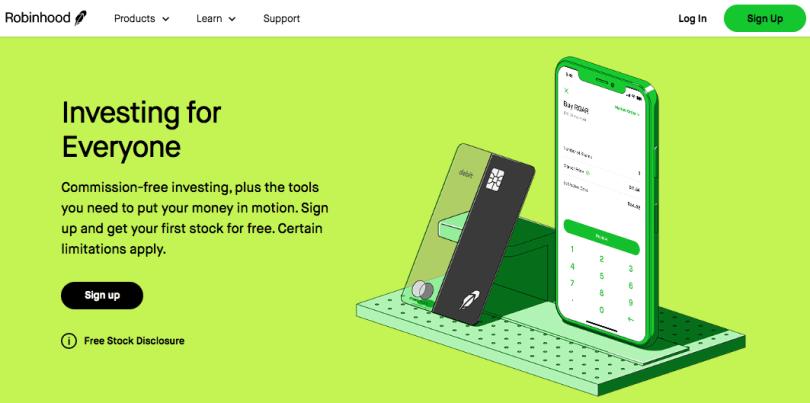 app para invertir robinhood