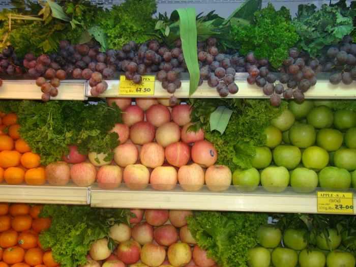 fast food, fresh fruit, fresh vegetable
