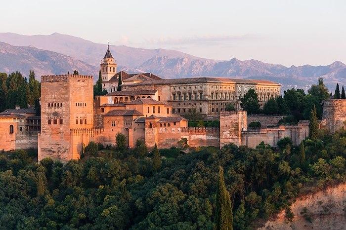 File:Dawn Charles V Palace Alhambra Granada Andalusia Spain.jpg