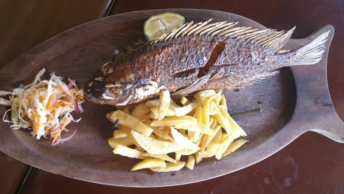 File:Fried Talapia Fish with Potato Chips in Uganda.jpg