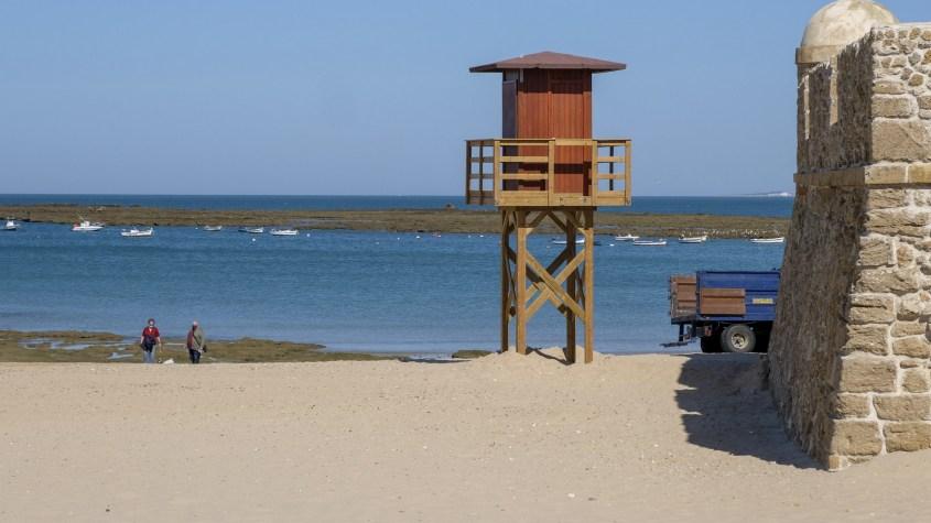montaje de las infraestructuras de playas