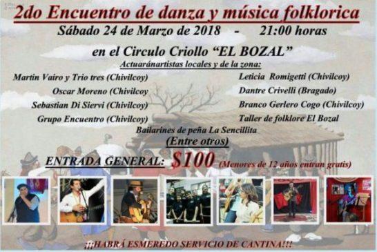 Sabado: 2do Encuentro de danza y música folklórica