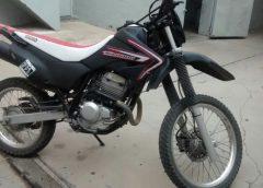 Aprehensión: moto con numeración adulterada