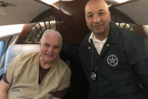 Expresidente Martinelli es trasladado al Hospital Santo Tomás