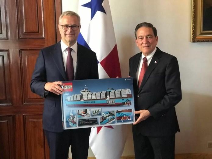CEO de Maersk se reúne con el Presidente Laurentino Cortizo