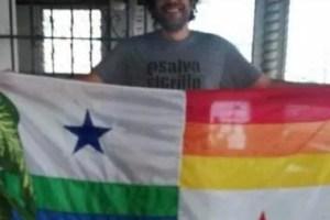Multan a ciudadano que alteró la bandera nacional con colores del LGTBI