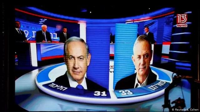 Israel: Netanyahu y Gantz empatados