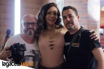 Roberto Valtueña, Lara Tinelli y Alex Pérez en Salón Erótico de Barcelona 2018