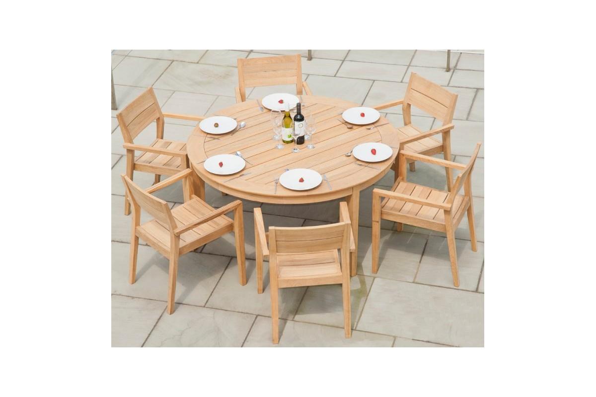Table Jardin Bois Ronde