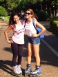 Me and Karla around the city by roller
