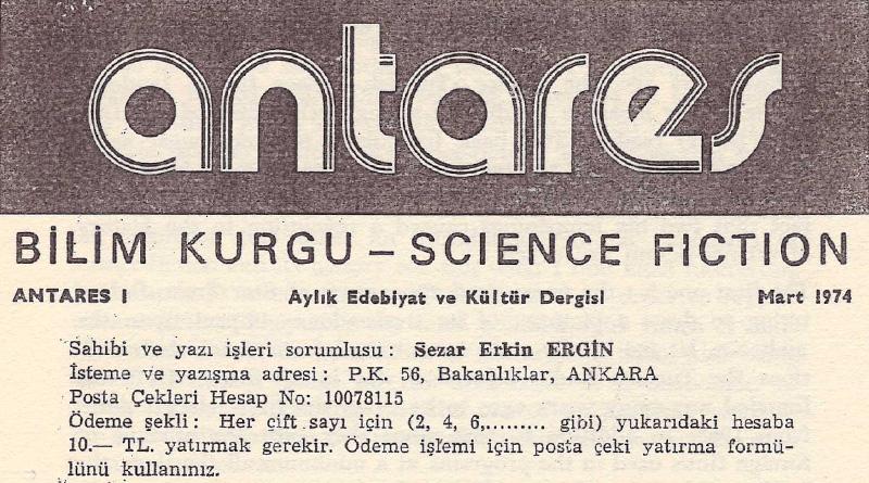 Türkiye'nin İlk Fanzini: Antares