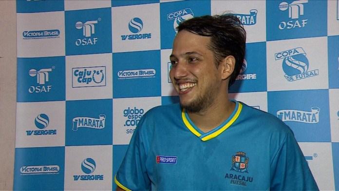 Davi Mendonça chega a segunda final consecutiva de Copa TV Sergipe (Foto: Reprodução TV Sergipe)