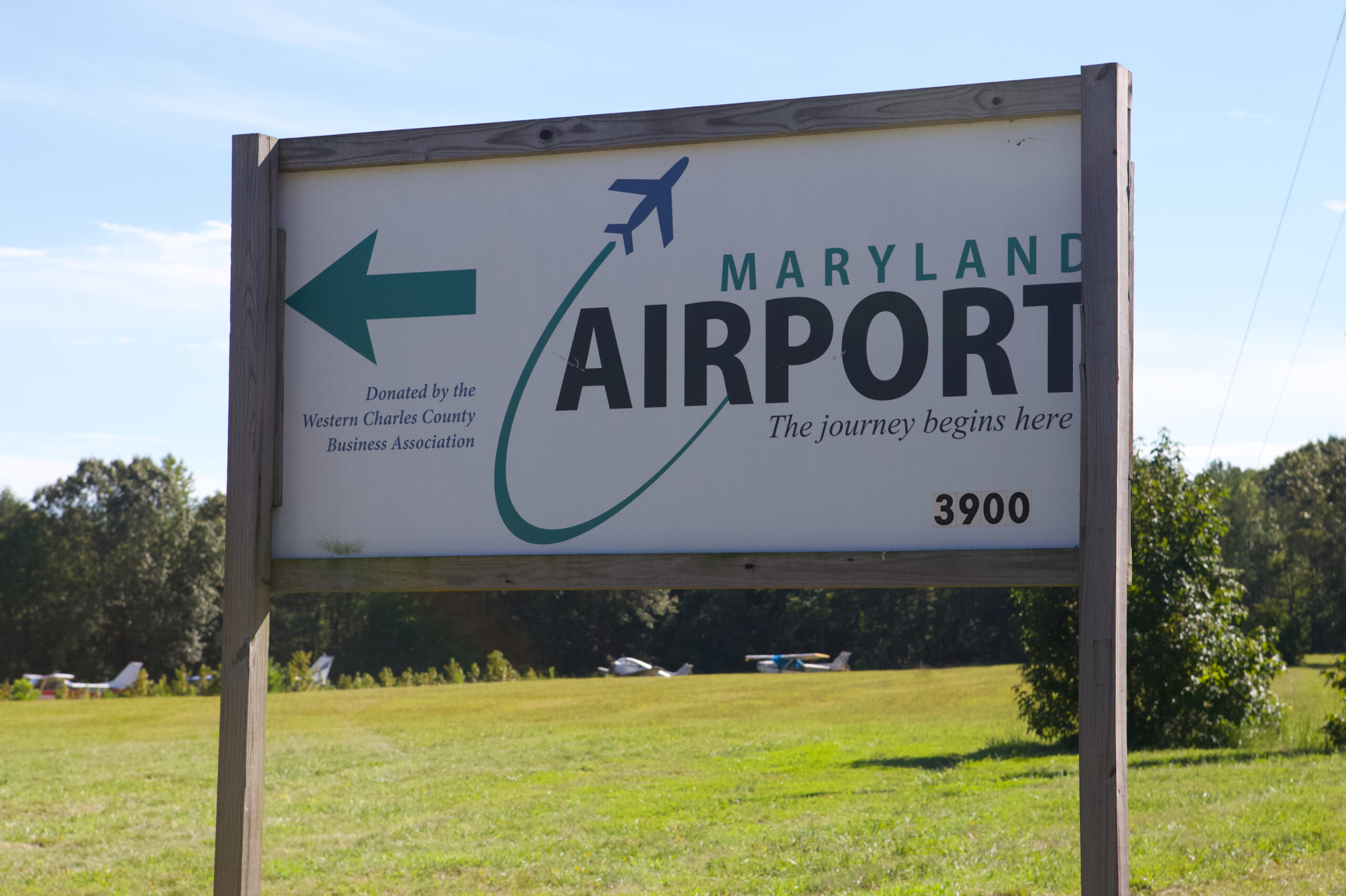 Maryland Airport sign