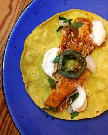 Taco cochinita pibil No Q No Gastrobar Barajas