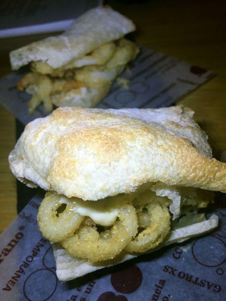 80 grados malasaña bocada de calamares crujiente en pan de cristal