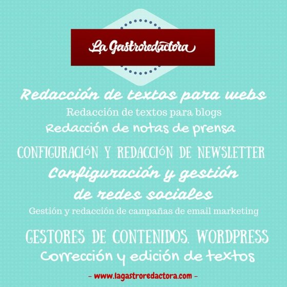 redaccion freelance, facebook, canva, picktochart, infografias, redes sociales, blogs gastronomicos, restaurantes, hosteleria, hacer un blog, blog, copywriter