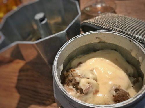 Tiramisú en Fellina, restaurante italiano en Madrid