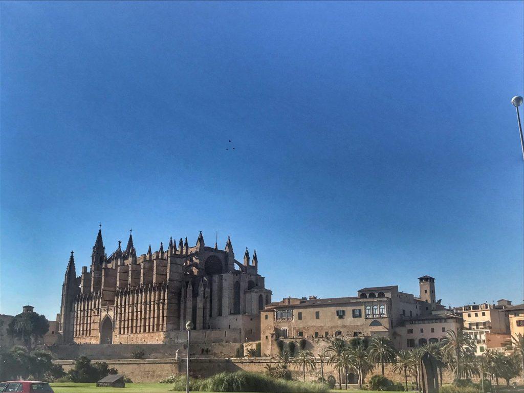 vista de la catedral de palma de mallorca