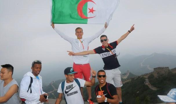 athletisme athlètes algérien zerifi, tabti, hathat