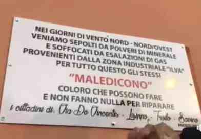 Nuova targa al rione Tamburi (VIDEO) | A Taranto si muore ancora di inquinamento