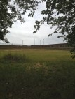A view of the windfarm that serves the school