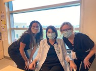 Interns Emily & Amanda with an RD mentor in their Clinical Rotation.