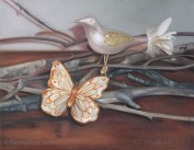 """Bird and Butterfly"". Oil on canvas. 2011."