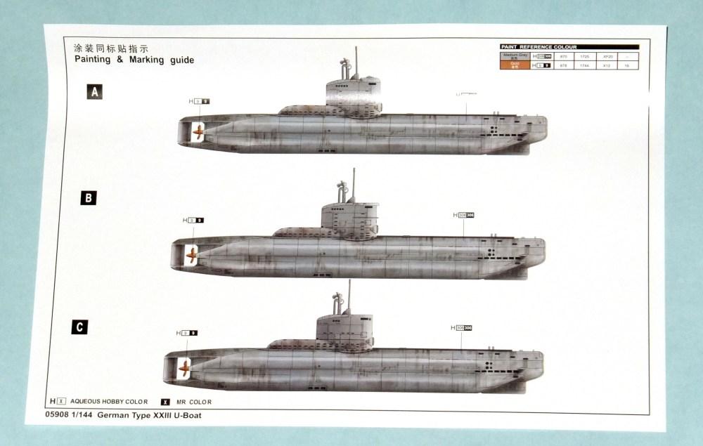 medium resolution of trumpeter 1 144 type xxiii submarine oob the sprue lagoon german type xxiii u boat diagram