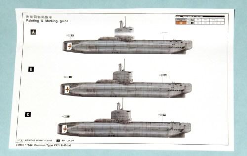 small resolution of trumpeter 1 144 type xxiii submarine oob the sprue lagoon german type xxiii u boat diagram