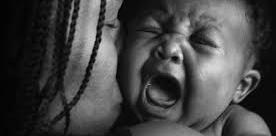 crying black baby