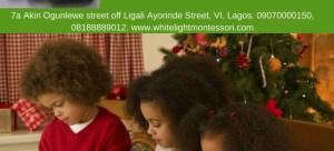 White Light Montessori school Xmas Playdates