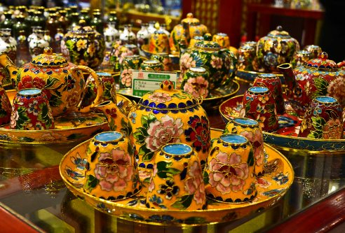 Tea sets are of course popular