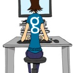 Vlà qu'elle blogue en bleu maintenant