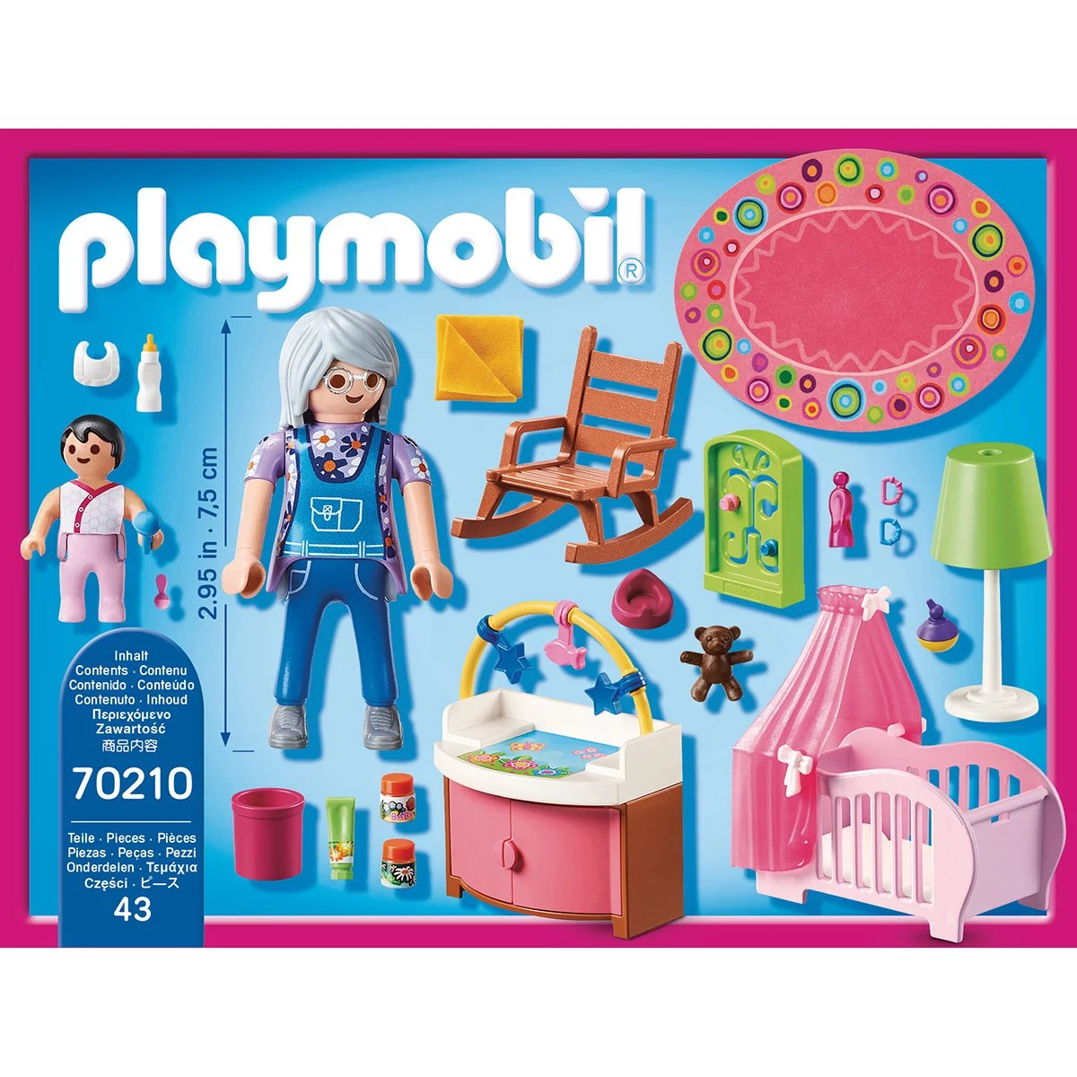 chambre de bebe playmobil dollhouse 70210