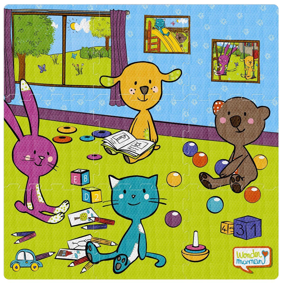 mon tapis puzzle dalle en mousse 9 pieces