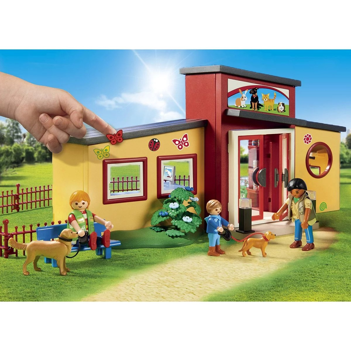 pension des animaux playmobil city life 9275