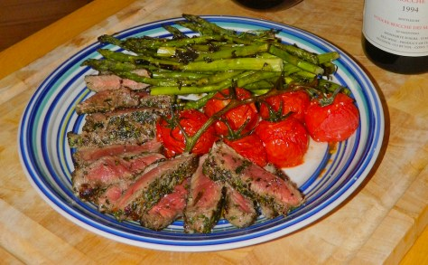 A perfectly rare, Tuscan-style steak