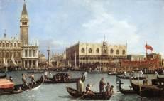 El Bucintoro regresa al Molo el día de la Ascensión, (1730).