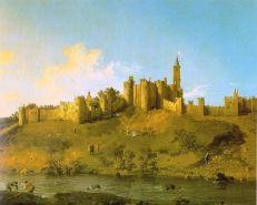 El Castillo de Alnwick en Northumberland. Canaletto pintó este cuadro durante su estancia en Inglaterra entre 1746 y 1755.