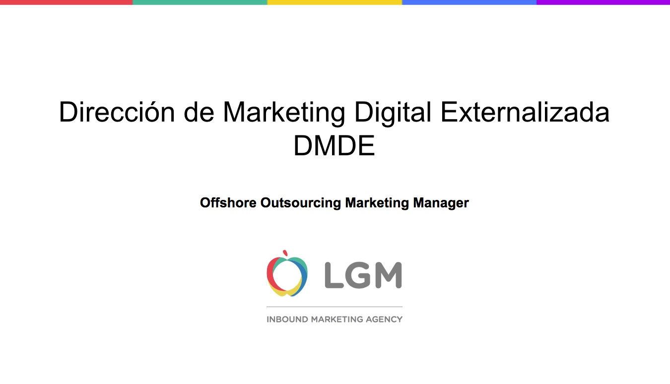 Dirección de Marketing Digital Externalizada DMDE