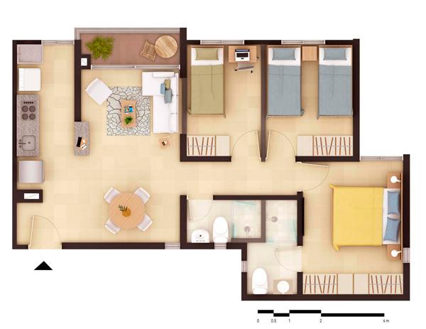 Apartamento Tipo A Apartamentos Convenientes Inga