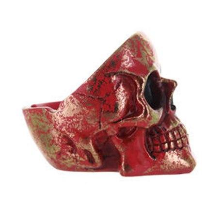 Cendrier skull polyrésine (Rouge)