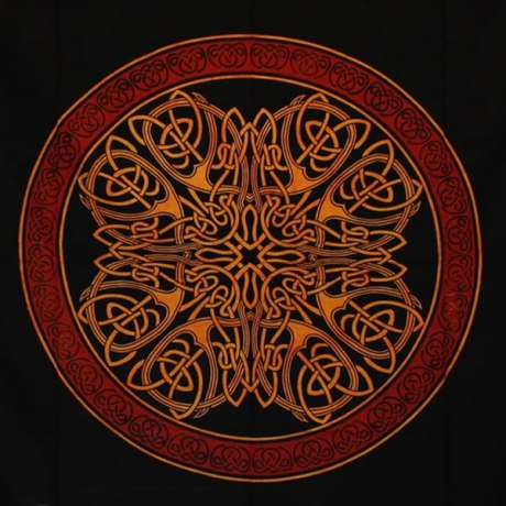 Tenture Mandala Celte (Orange)