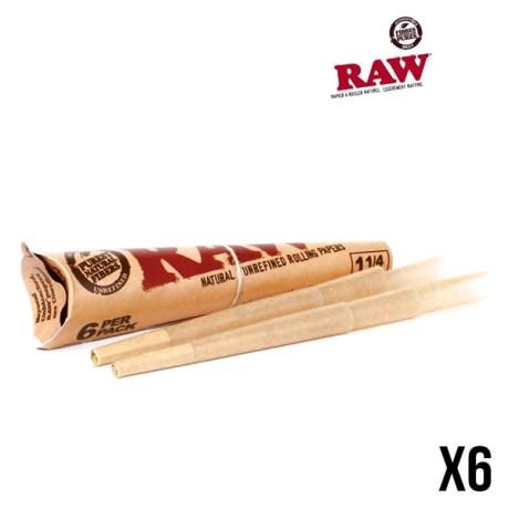 Etui de 6 cônes pré-roulés de 8 cm avec papier à rouler composé de fibres naturelles (chanvre et lin) et non blanchi. Papier extra fin et équipé d'un carton.