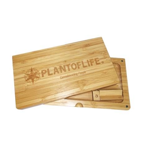 Plateau double bambou pol logo horizontal