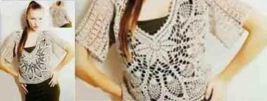 Crochet : pull femme très léger