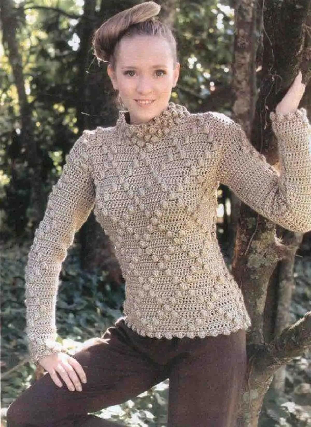 Crochet un pull très chic