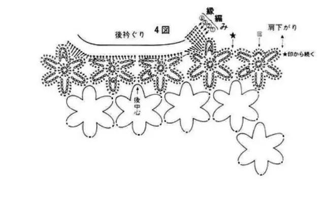 Un gilet de mini-fleurs sans manche