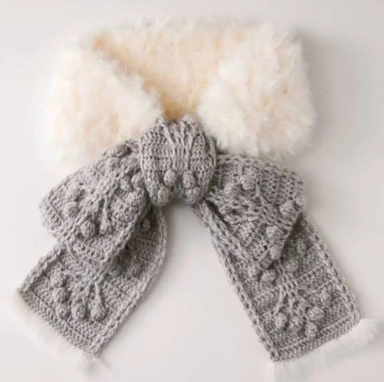 Une écharpe dans l'esprit de Noël